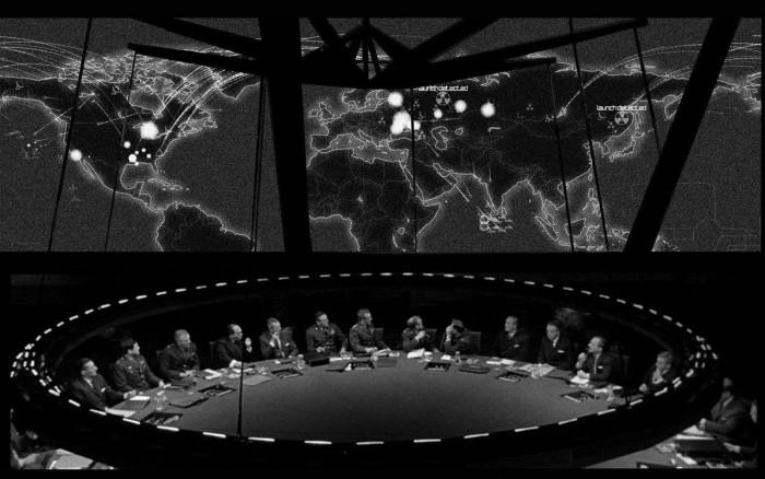 Sala de Guerra em Dr. Fantástico, de Stanley Kubrick