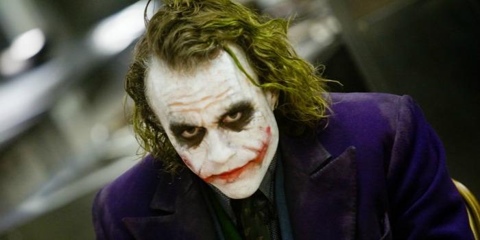 Coringa (Heath Ledger), em Batman: O Cavaleiro das Trevas