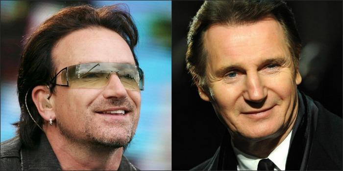 Bono Vox e Liam Neeson preparam roteiro sobre orquestras da Irlanda