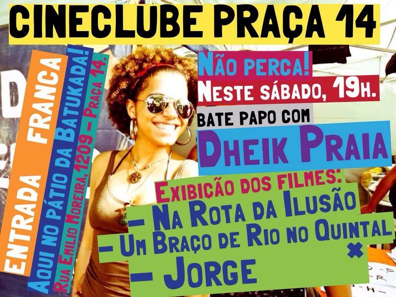 Filmes de Dheik Praia são destaque no Cineclube Praça 14