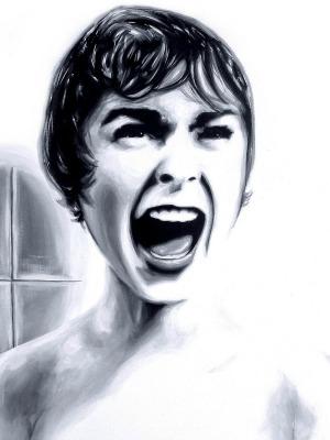 psicose janet leigh fan art ilustração
