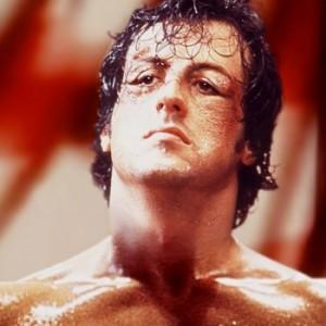 Sylvester Stallone em cena de Rocky, um Lutador