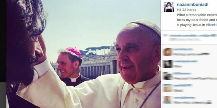 Rodrigo Santoro recebe bênção do papa Francisco para viver Jesus em 'Ben-Hur'