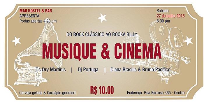 "MAO Hostel & Bar promove festa ""Musique & Cinéma"""