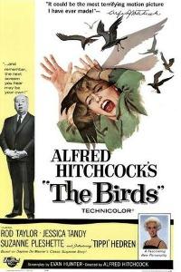 Cartaz de Os Pássaros, de Alfred Hithcock