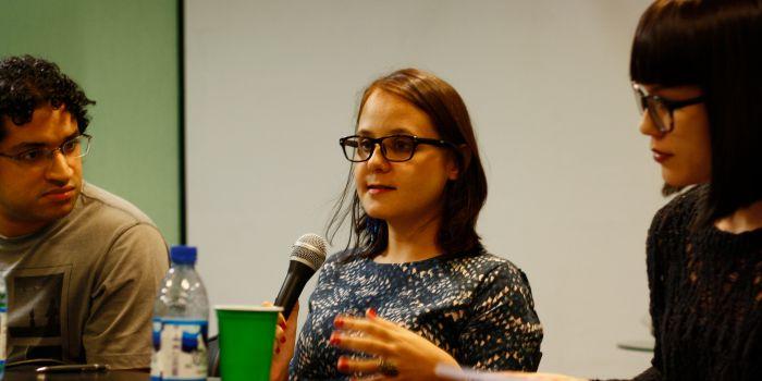 Isabel Wittmann fala sobre a questão de gênero no cinema na mesa-redonda Mulheres no Cinema