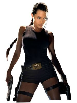Angelina Jolie como Lara Croft em Tomb Raider