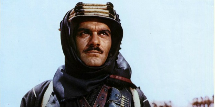 "Omar Sharif como Xerife Ali em ""Lawrence da Arábia"" (1962)"