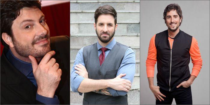 Os apresentadores Danilo Gentili, Rafinha Bastos e Marcos Mion