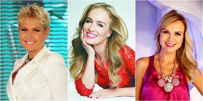 As apresentadoras Xuxa, Angélica e Eliana