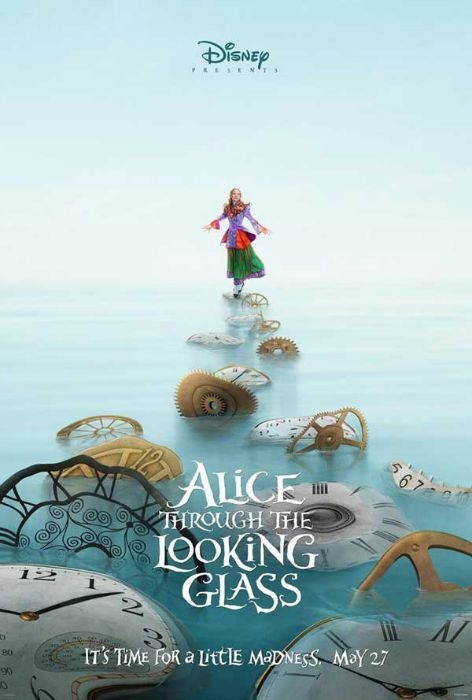 Pôster de Alice Through the Looking Glass, com Mia Wasikowska