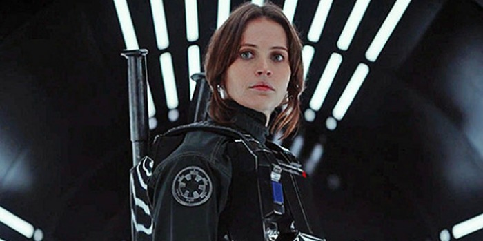 Jyn Erso (Felicity Jones) em Star Wars: Rogue One
