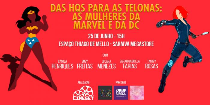 Cine Set promove evento sobre 'Mulher-Maravilha' e as mulheres nos filmes de HQs