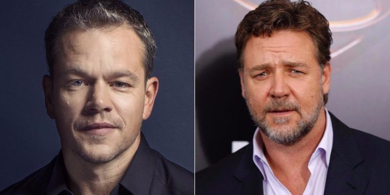 Repórter acusa Matt Damon e Russell Crowe de abafar denúncia contra Weinstein