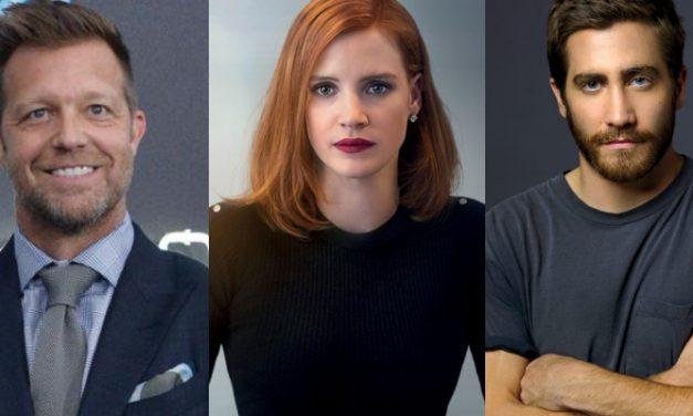 David Leitch, Jessica Chastain e Jake Gyllenhaal juntos em 'The Division'