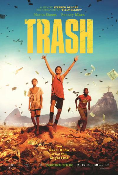 Gravado no Rio de Janeiro, Trash ganha o primeiro pôster