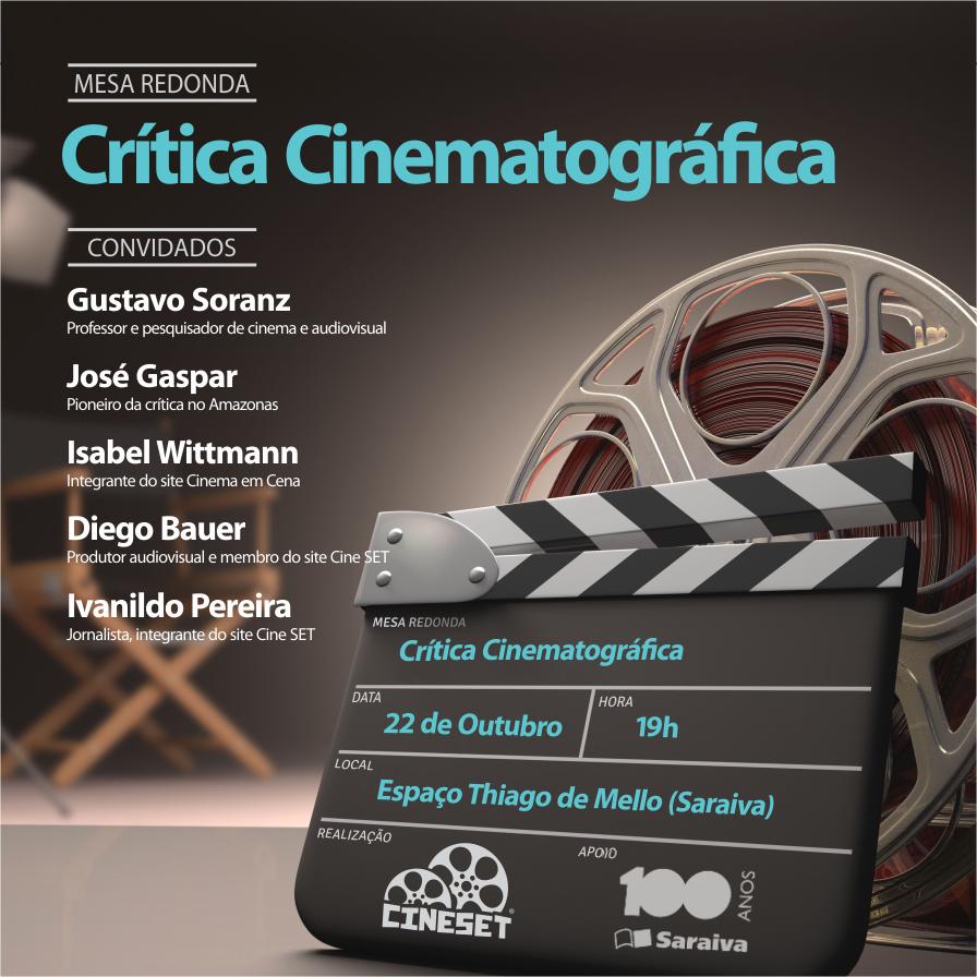 Cine Set realiza debate sobre crítica de cinema nesta quarta em Manaus