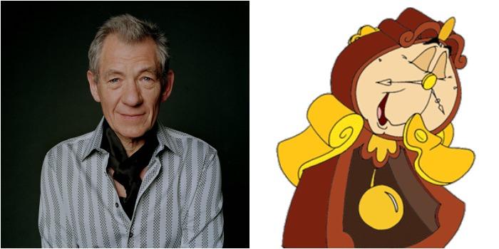 Ian McKellen será relojoeiro na versão com atores reais de A Bela e a Fera