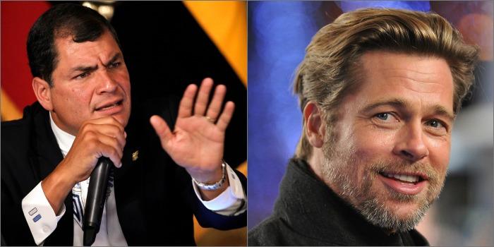 Presidente do Equador inicia campanha para Brad Pitt desistir de filme