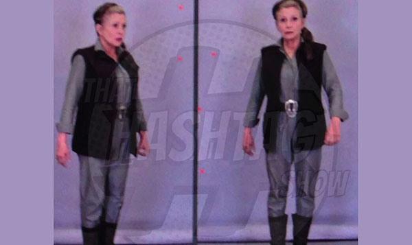 Carrie Fisher/Princesa Leia nos bastidores de Star Wars: O Despertar da Força