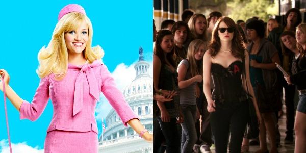 "Elle Woods (Reese Witherspoon), de ""Legalmente Loira"" (2001) e ""Legalmente Loira 2"" / Olive Penderghast (Emma Stone), de ""A Mentira"""