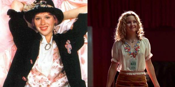"""Andie Walsh, de """"A Garota de Rosa-Shocking"""" (1986) / Penny Lane, de """"Quase Famosos"""" (2000)"""