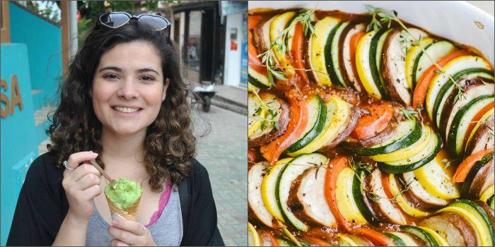 Mônica Dias, do blog Garota Esfomeada, elege ratatouille como prato favorito do cinema