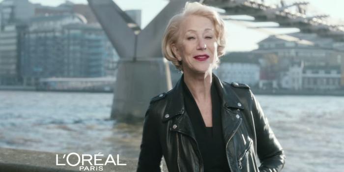 Helen Mirren é envolvida em polêmica de comercial da L'Oreal