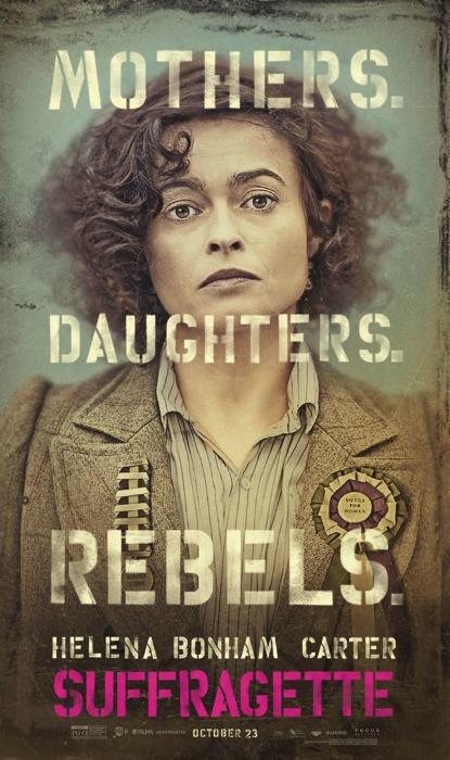 Pôster de Suffragette, com Helena Bonham Carter