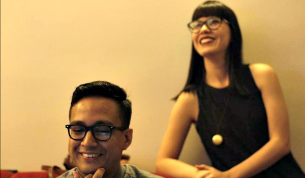 Susy Freitas e Gabriel Oliveira nos bastidores do Oscar 2016