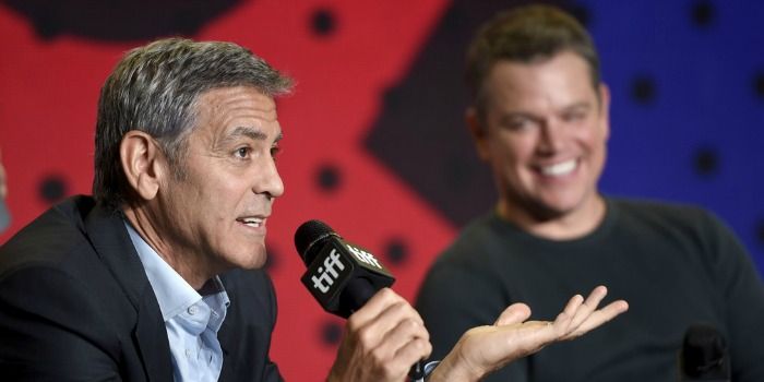 George Clooney e Matt Damon abordam racismo nos EUA no Festival de Toronto