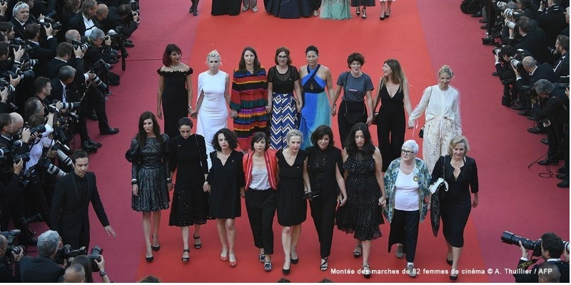 #MeToo realiza ato no Festival de Cannes em prol da igualdade salarial nos cinemas